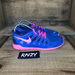 Nike Free 5.0 Royal Blue Pink